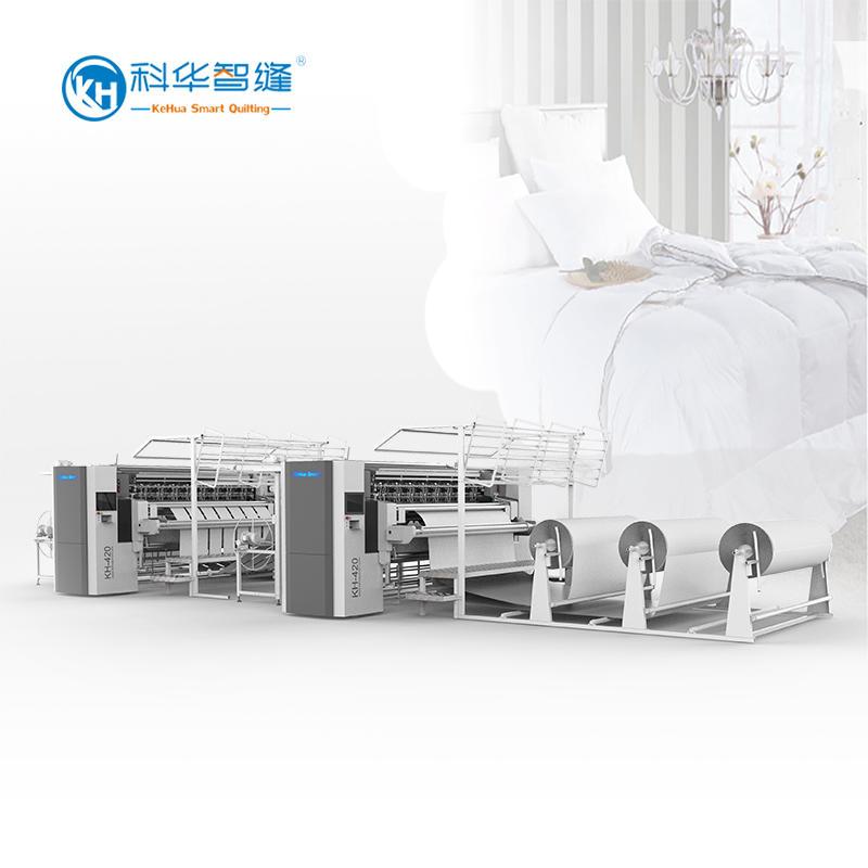 KH-420BD + KH-420SL  Hi-speed Multi-needle Quilting Machine(slittingdevice)